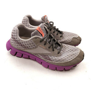 Reebok RealFlex Gray Mesh Purple Running Womens